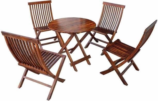 Shekhawati Decor Sheesham Wood Solid Wood 4 Seater Dining Set