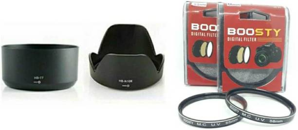 BOOSTY 2Psc MCUV Filter + Lens hood for Nikon d3400/d5300/d5600 af-p 18-55mm & 70-300mm Lens Hood  Lens Hood