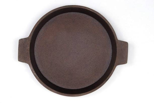 PRV Cast Iron Dosa/Roti Tawa Pre-Seasoned Cast Iron Skillet Tawa 24 cm diameter