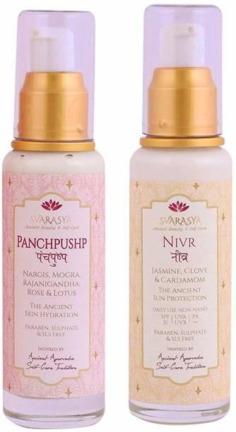 Svarasya Natural Sunscreen SPF 21 & Panchpushp - The Ancient Skin - SPF 21 PA++