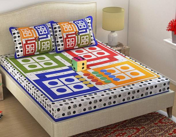 G.Tex 152 TC Cotton Double Jaipuri Prints Bedsheet