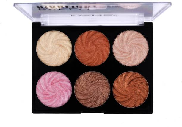 MARS 6 Color Baked Highlighter with under eye cream Highlighter