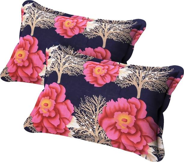 BEVI New-2019 Pillow Covers Microfibre Floral Sleeping Pillow Pack of 2