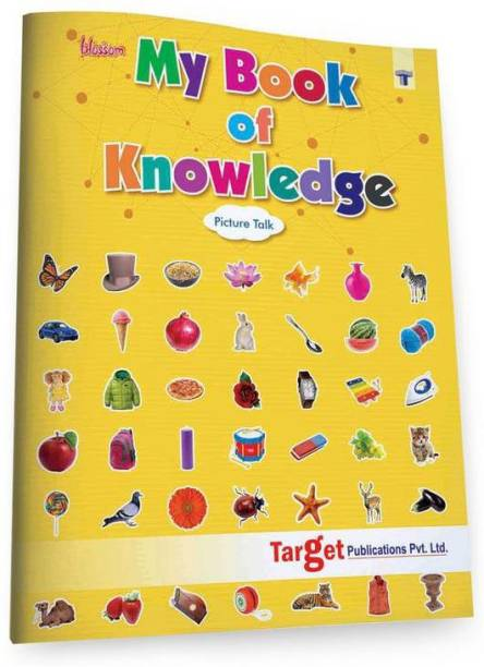 Blossom My Book Of Knowledge In English - Picture Talk For Nursery Kids | 3 To 5 Year Old | Learn A To Z Alphabets, 1 To 10 Numbers, Fruits, Vegetables, Animals And Shapes | Perfect Gift For Preschool Children