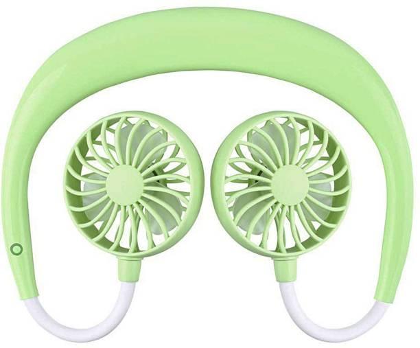 Shopper52 Wearable Sports Fan Portable Neckband Fan SPORTFAN-GR USB Air Cooler