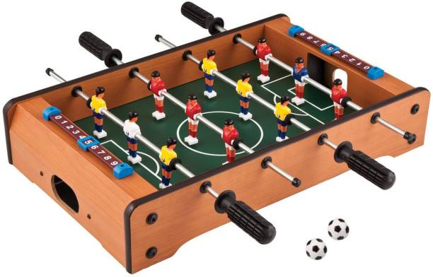 Chocozone Mid-Sized Football Table Soccer Game with 4 Rods Foosball Board Game