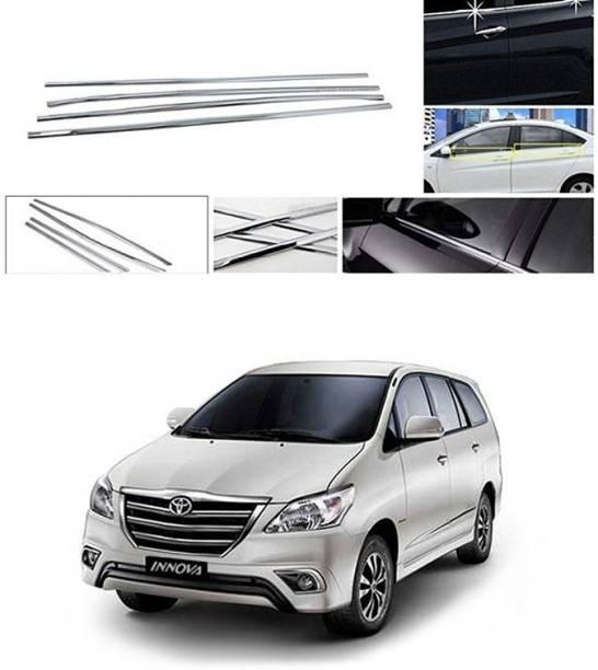 PRTEK Lower Window Garnish (Chrome) Set of 4 Compatible with 096 Chrome Toyota Innova Side Garnish
