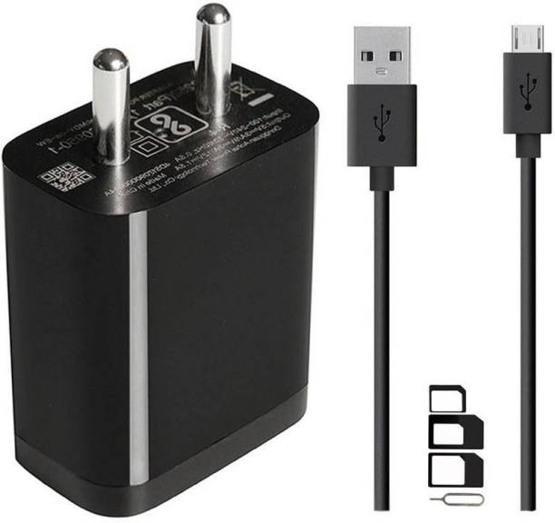 ShopMagics Wall Charger Accessory Combo for Lenovo K5 Note (2018), Lenovo A5, Lenovo K5, Lenovo K5 Play, Lenovo K320t, Lenovo Tab 7 Essential, Lenovo Tab 7, Lenovo K8 Plus, Lenovo K8, Lenovo K8 Note, Lenovo Tab 4 10, Lenovo Tab 4 8, Lenovo Tab3 8 Plus, Lenovo A6600 Plus, Lenovo A6600, Lenovo B, Lenovo A Plus, Lenovo P2, Lenovo K6 Note, Lenovo K6 Power, Lenovo K6 Charger Original Adapter Like Wall Charger | USB Charger | Mobile Power Adapter | Fast Charger | Android Smartphone Charger | Battery Charger | High Speed Travel Charger With 1 Meter Micro USB Cable | Charging Cable | Data Cable