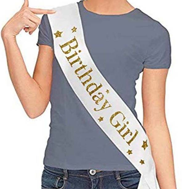 Party Propz Birthday Girl Sash for Girls Birthday Party Decoration
