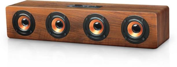 iGear Ensemble Wooden Soundbar Speaker with Multiple Playback Options, Inbuilt Sub-Woofer with High Bass, FM Radio, Micro SD Slot 20 Watss output Portable Bluetooth Soundbar (Brown) 20 W Bluetooth Soundbar