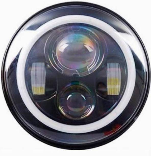 BhanujT LED Headlight For Mahindra, Royal Enfield Thar, Bullet 350
