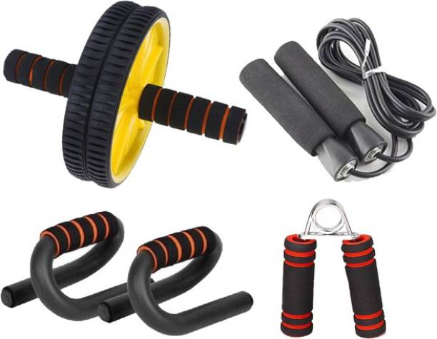 L'AVENIR FITNESS Ab Exerciser, Push up Stand, Skipping rope & Hand Grip Gym & Fitness Kit