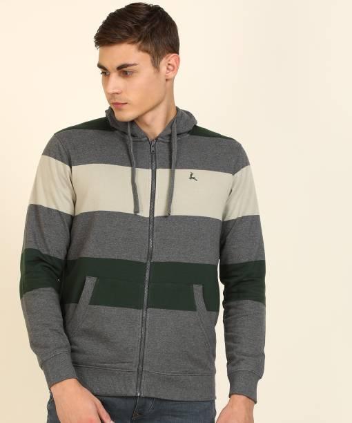 PARX Full Sleeve Striped Men Sweatshirt