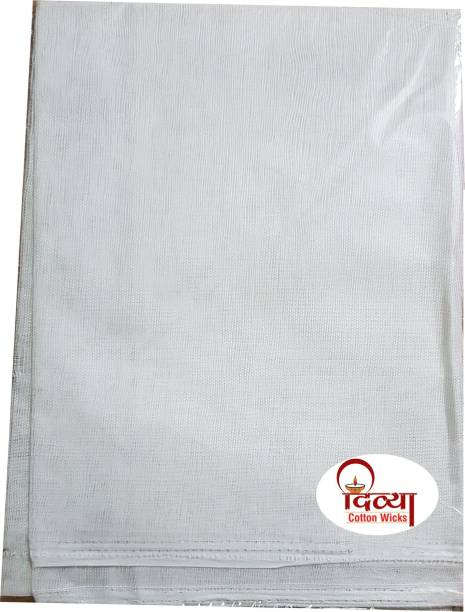 Divya White Puja Cloth And One Packet Cotton Puja Batti Free With Altar Cloth