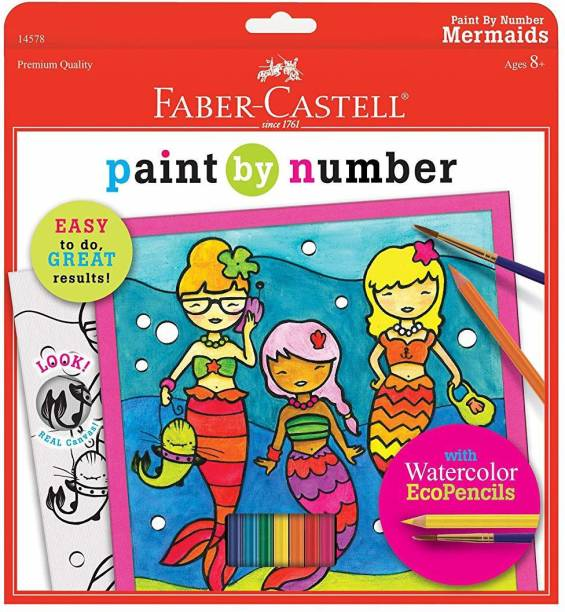 FABER CASTELL Paint by Number Mermaids