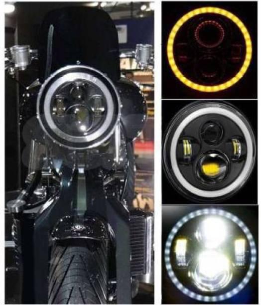 IMAD TRADING LED Headlight For Mahindra, Royal Enfield Bullet Trials 350