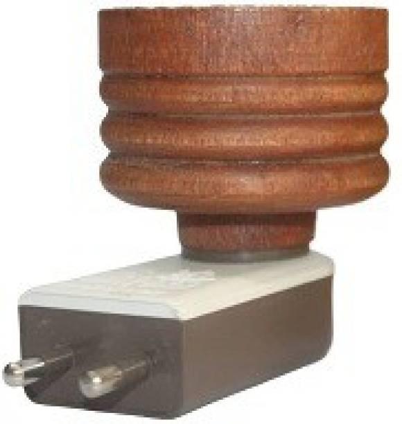 MDTL Multipurpose Direct Plug in Mini Wooden Electric Incense Burner Bakhoor Dani Kapoor Dani Aroma Diffuser Camphor Burner - 2nd Generation Wooden Incense Holder