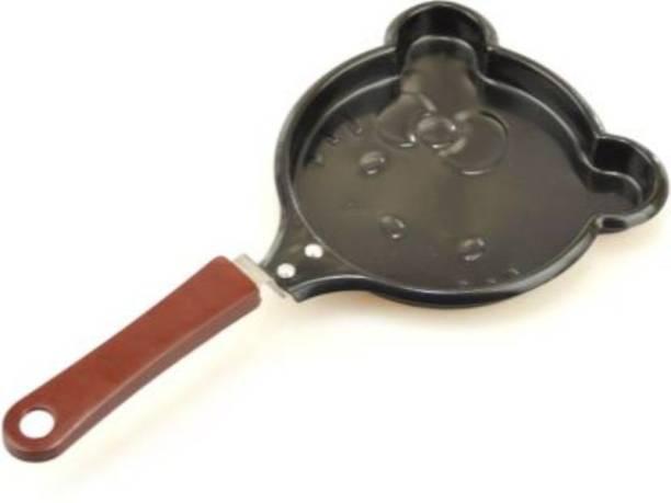 True Shop ® Unique Design Kitty Shaped Breakfast Omelette Pan Fry Mini Frying Pan Egg Pancake Outdoor Picnic Tools Fry Pan 11 cm diameter 1 L capacity