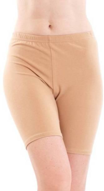 Apraa & Parma Solid Women Beige Sports Shorts
