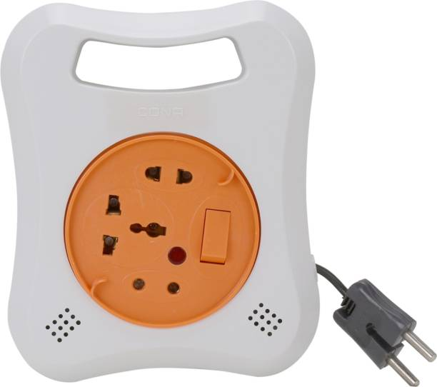 CONA 4166 MULTI 2 Pin Flex Box, 240V, 4 Meter Electrical Extension Box with Universal Socket 3  Socket Extension Boards