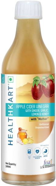 HEALTHKART Apple Cider Vinegar with Mother (Ginger Garlic Lemon Honey) Vinegar