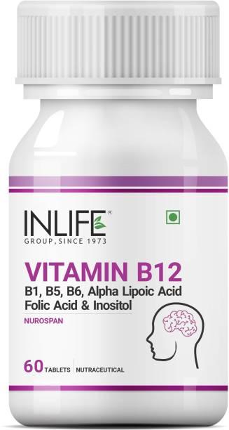 Inlife Vitamin B12 1500mcg with B1, B5, B6, Alpha Lipoic Acid ALA - 60 Tablets