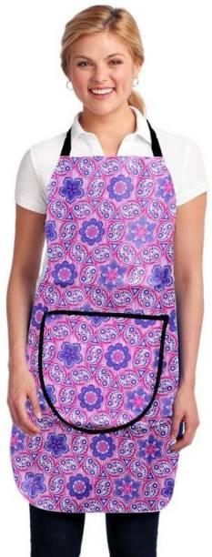 Reejon Polyester Home Use Apron   Free Size Purple, Single Piece