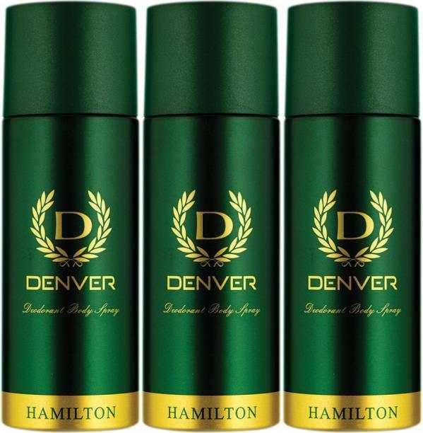 DENVER Hamilton Combo (Pack of 3) Deodorant Spray  -  For Men