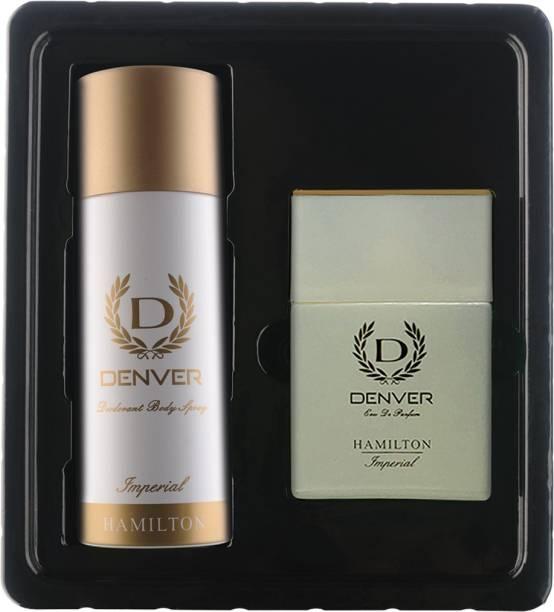 DENVER Imperial Gift Set Perfume 60 ML+ 165 ML Deodorant Spray  -  For Men