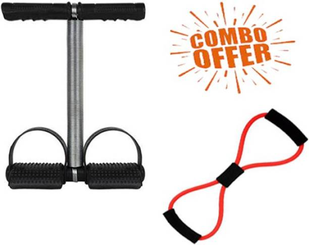 CONSONANTIAM Combo Of Tummy Trimmer (Single Spring) And Chest Expander Resistance Tube Gym & Fitness Kit