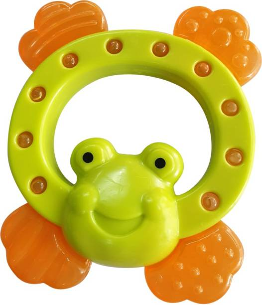 Buddsbuddy Premium BPA Free Frog Shaped Water Filled Teether, Pain Relief Easy Teething Toy for Babies Teether
