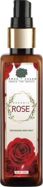 Lemon Charm Organic Rose Refreshing Body Mist Body Mist  -  For Men & Women