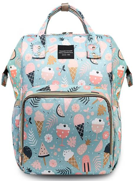 HOUSE OF QUIRK Baby Diaper Bag Maternity Backpack (Icecream Printed Blue) Backpack