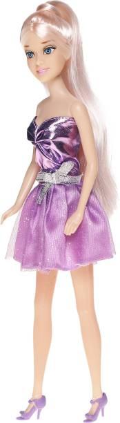 Miss & Chief Hannah Fashion Doll - Purple Shimmery Dress