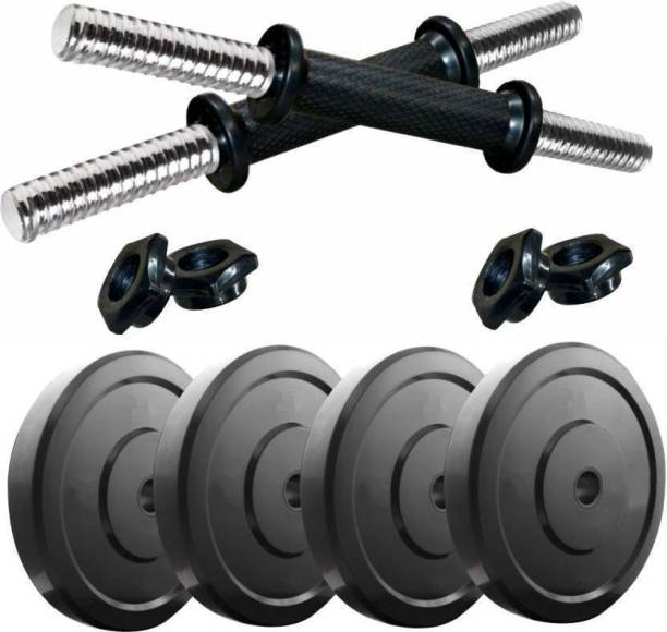 Woody 8 KG MUSCLE BUILDING PVC PLATES Adjustable Dumbbell Home Gym Combo Adjustable Dumbbell