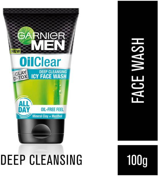 Garnier Men Oil Clear Clay D-Tox Deep Cleansing Icy Face Wash