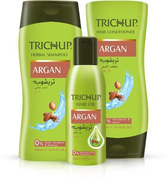TRICHUP Argan Hair Care Kit – Oil, Shampoo & Conditioner