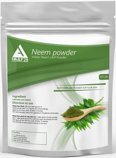 HA&F 29 ENTERPRISES Organic Neem Powder for Clear Skin and Itchy Dandruff Scalp (250 gm)