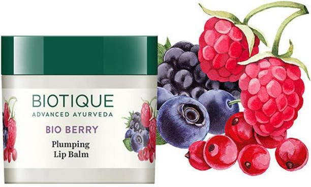 BIOTIQUE Bio Berry Plumping Lip Balm (12 g) (pack of 2) berry