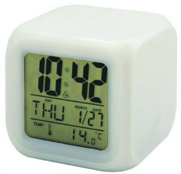 baluda Digital White Clock