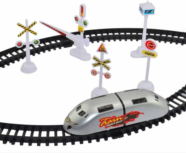 JPRS High Speed Bullet Train Toy Train with Track Set & Signal Accessories Battery Operated Train Set for Kids | Bullet Train Toys for Kids