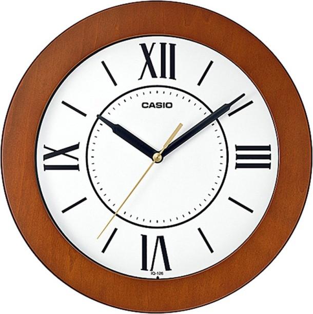 29cm Silent Squared Wall Mountable Quartz Analogue Clock White Frame