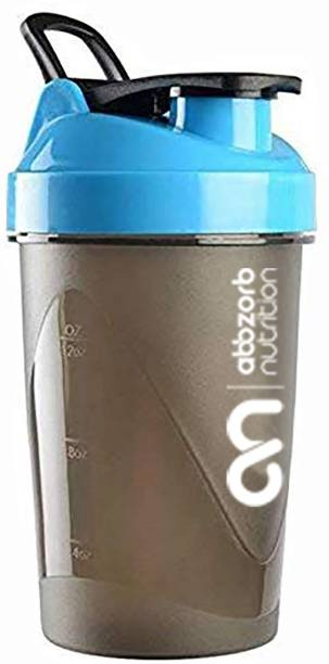 Abbzorb Nutrition Protein Shaker Bottle with Mixer Ball 400 ml Shaker