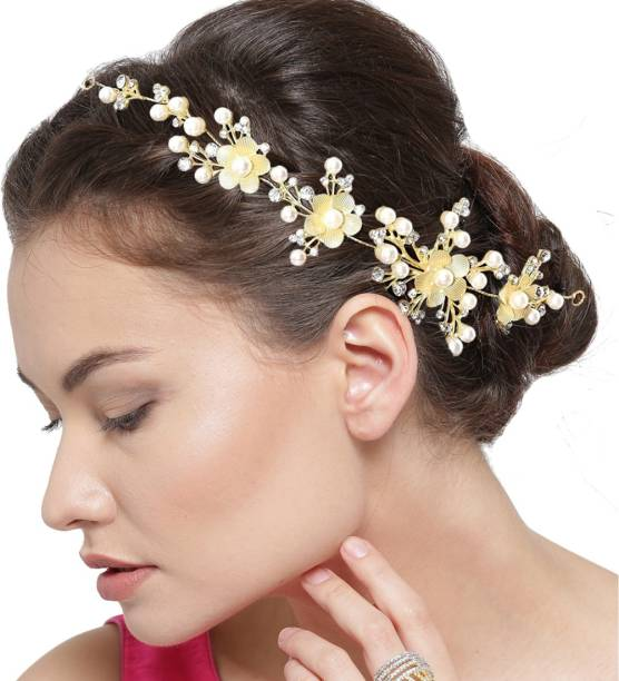 YouBella Stylish Latest Design hair Jewellery Hair Chain