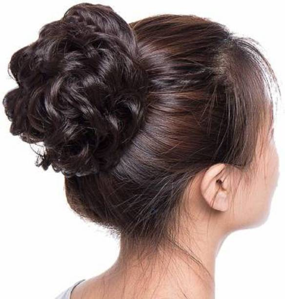 HAVEREAM Natural brown funky bun Hair Extension