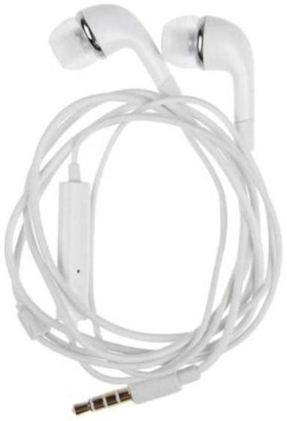 kk2 Ear Headphone for Compatible to All Android Mobile (White) Wired Headset