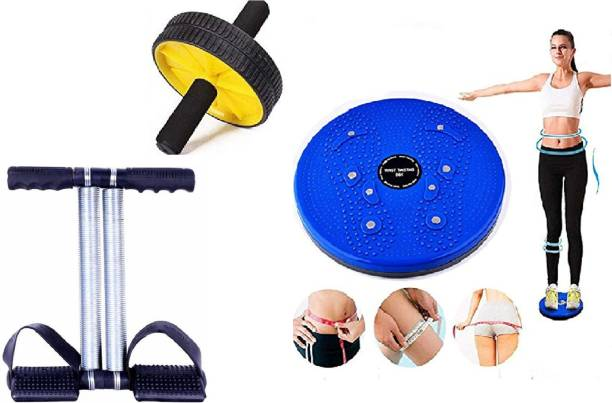 MARCRAZY accupressure tummy twister, AB wheel roller & tummy trimmer ( multicolor combo ) Gym & Fitness Kit
