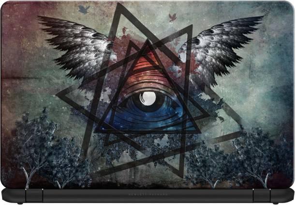 doodad Illuminaty eye Premium Vinyl Laptop Decal 15.6