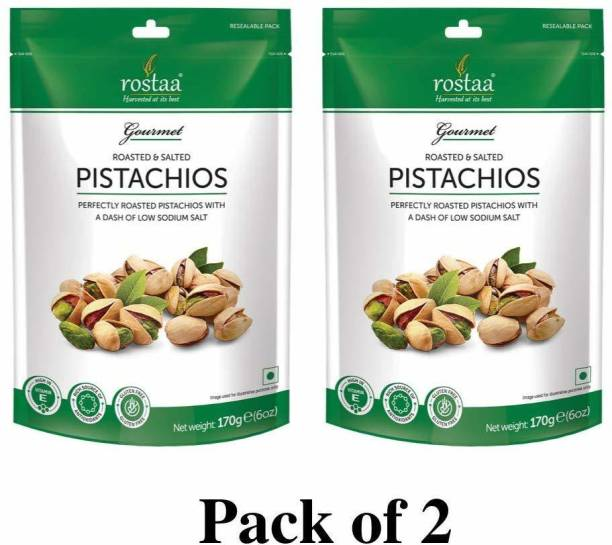 rostaa Roasted & Salted Pistachio 170gm (Pack of 2) Pistachios