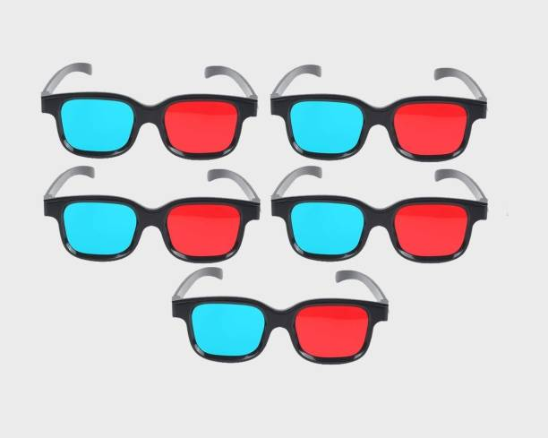 Jambar JD-05-5 Red and Blue 3D Glasses 5 Pair Gift Pack for 3D Video Glasses